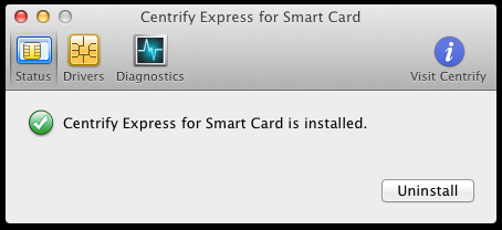 Centrify Express Uninstall image