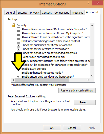 Enable Enhanced Protected Mode image