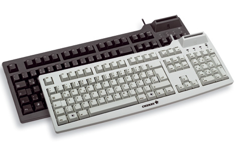 Picture of Cherry G83-6644  keyboard with built in Smart Card reader