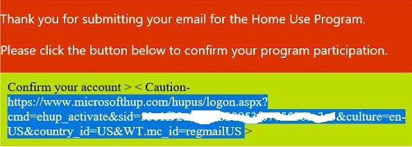 highlighted web address - Microsoft Visio Home Use Program