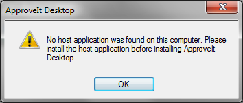 No Host Application Found
