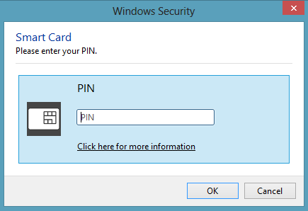 Windows 8 PIN selector
