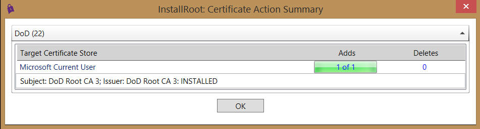 militarycac number dod certificates adds vary ok select
