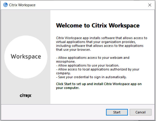 Install Citrix Workspace